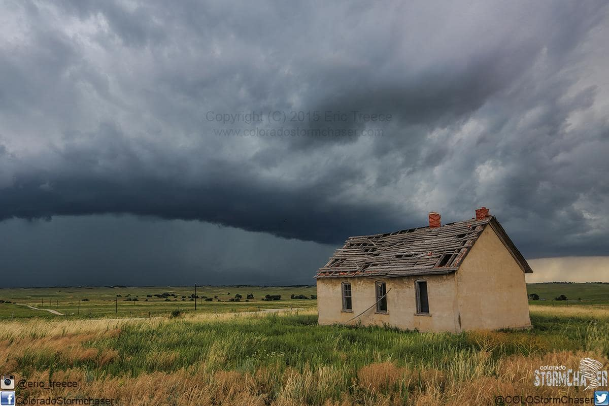 An old homestead near Ramah, CO and approaching thunderstorm on July 21, 2015.An old homestead near Ramah, CO and approaching thunderstorm on July 21, 2015.