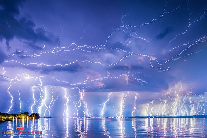 Impressive thunderstorm over Lake Bolsena my home town [Bolsena, Lazio, Italy] on August 10, 2015 at 02:30 am.
