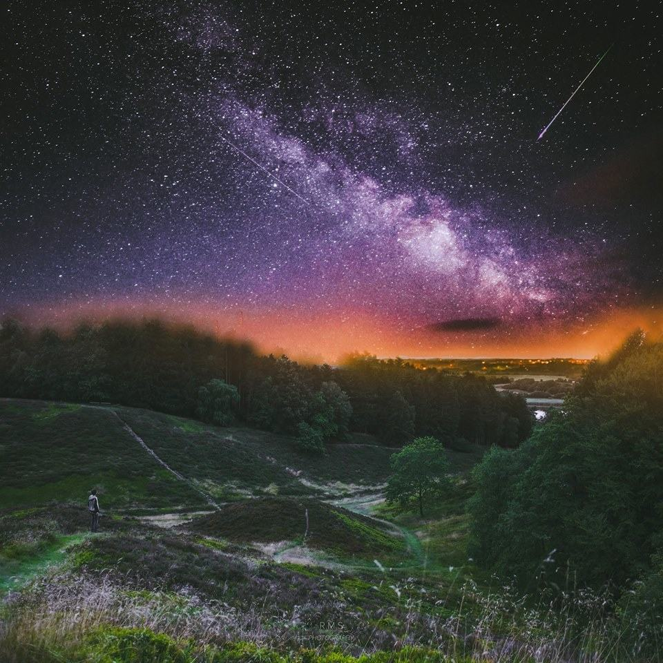 In Denmark you can't really see too much of the Milky Way but country's dark landscape and low light pollution is perfect for the astrophotography. Settings and equipment: Canon EOS 7D + Canon 18-55mm Different exposures with ISO 2000 and f/3.5