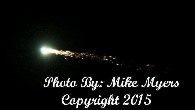 Aug 13,2015 Last Night First time I ever saw meteor shower close to earth. I keep going click My camera about 100 time got one picture. Not really easy get it picture. LOL