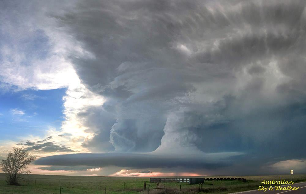 At the end of the day of the Simla - Matheson tornadoes in Colorado.....we are left with this still astonishing structure...4th June 2015