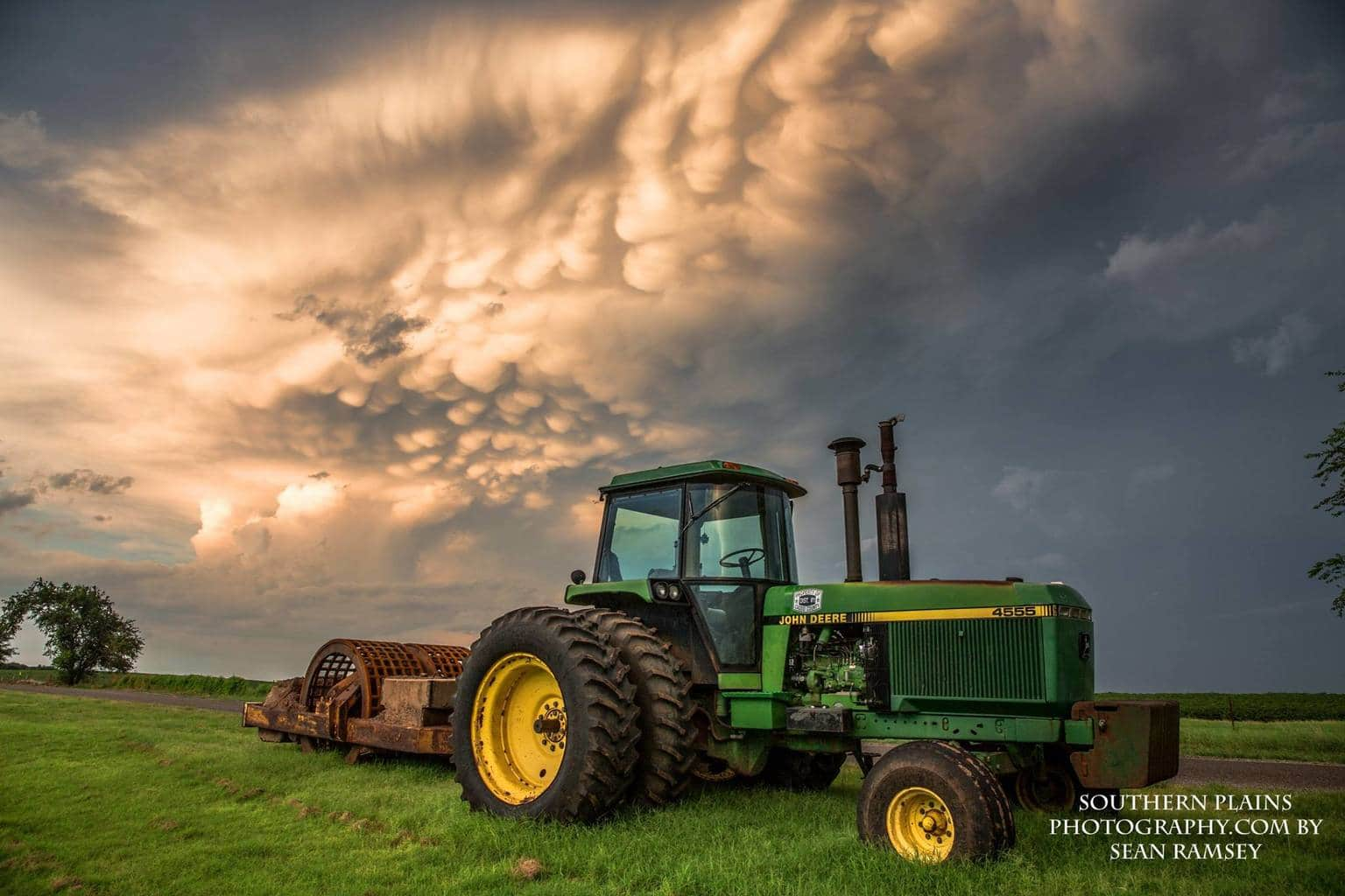 A scene from along Highway 152 in Western Oklahoma, August 18th, 2015.