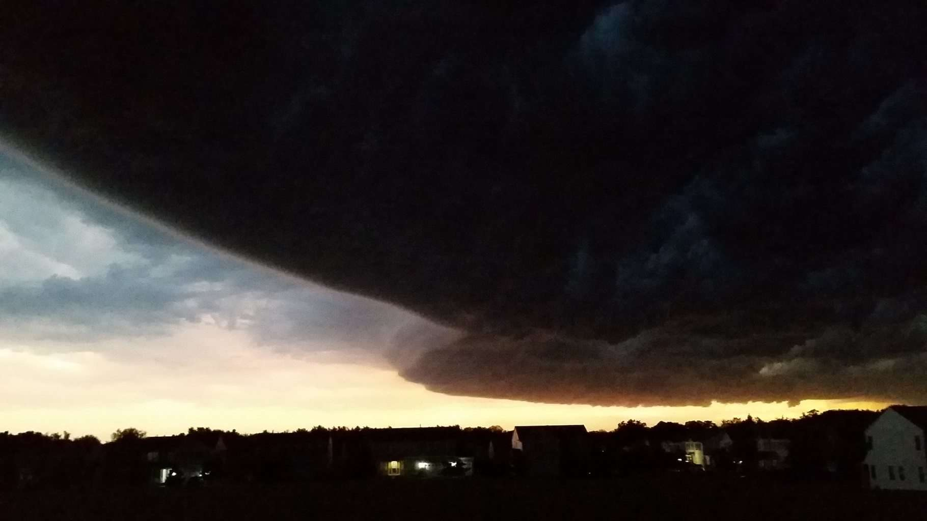 Big storm from the front of my house. Antioch, IL
