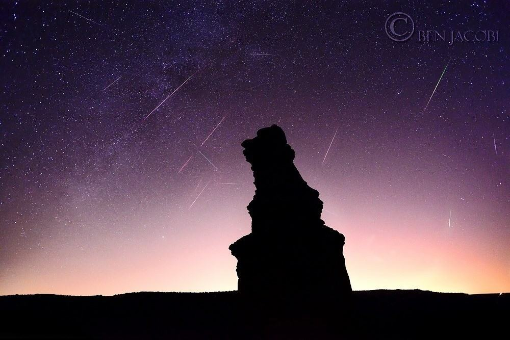 I had the amazing opportunity to photograph the Perseid meteor shower from The Lighthouse in Palo Duro Canyon State Park. We had special permission to camp on the lighthouse to shoot the meteor shower. This was my personal favorite from the trip. This image is a stacked composite of fifteen images over a few hours. Camera: Nikon D800 Lens: Nikkor 20mm f/2.8 AF lens Exposure: 15sec, f/4, ISO: 12800 (x15) Blended in Adobe Photoshop CS4