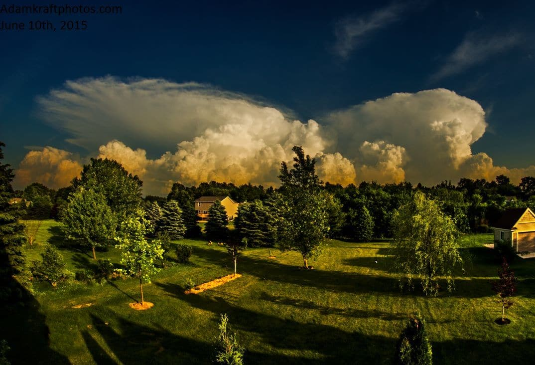 Yes, even in lower MI we get the occasional photogenic supercell. Taken on June 10th, 2015 in Spring Arbor MI.