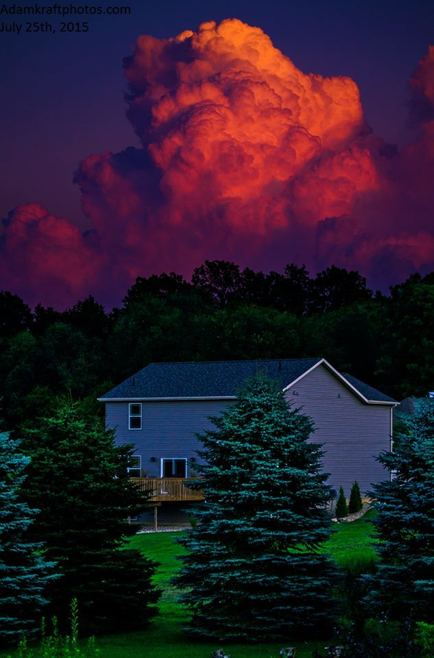 Back in July I was afforded the opportunity at a shot I had been wanting for a few years. In a lot of ways I don't think the pic does justice to how beautiful this was. Perfect shower and storm development timing with sunset! Pic taken in Spring Arbor MI.