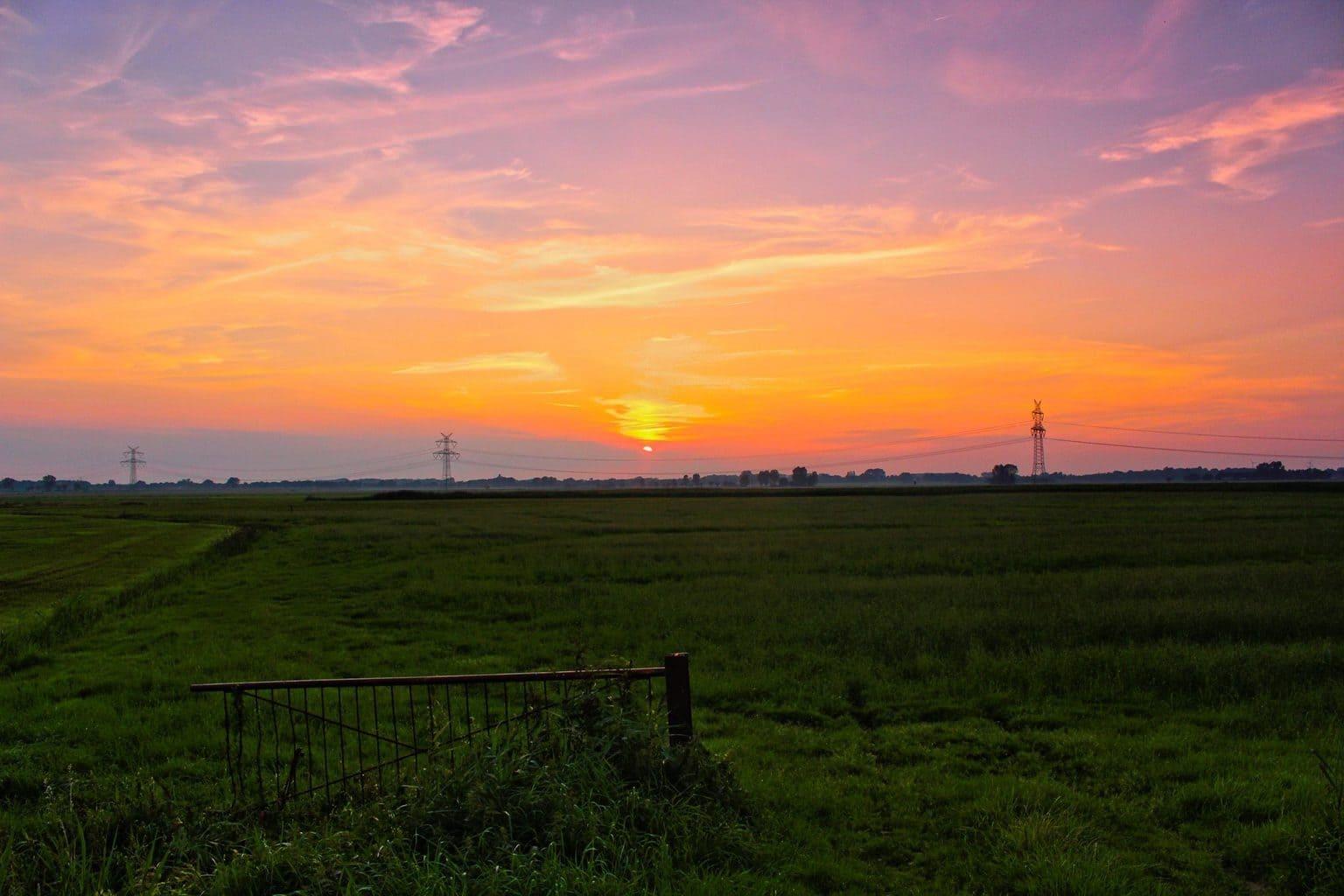 Sunset in northwest Germany, 19.08.2015