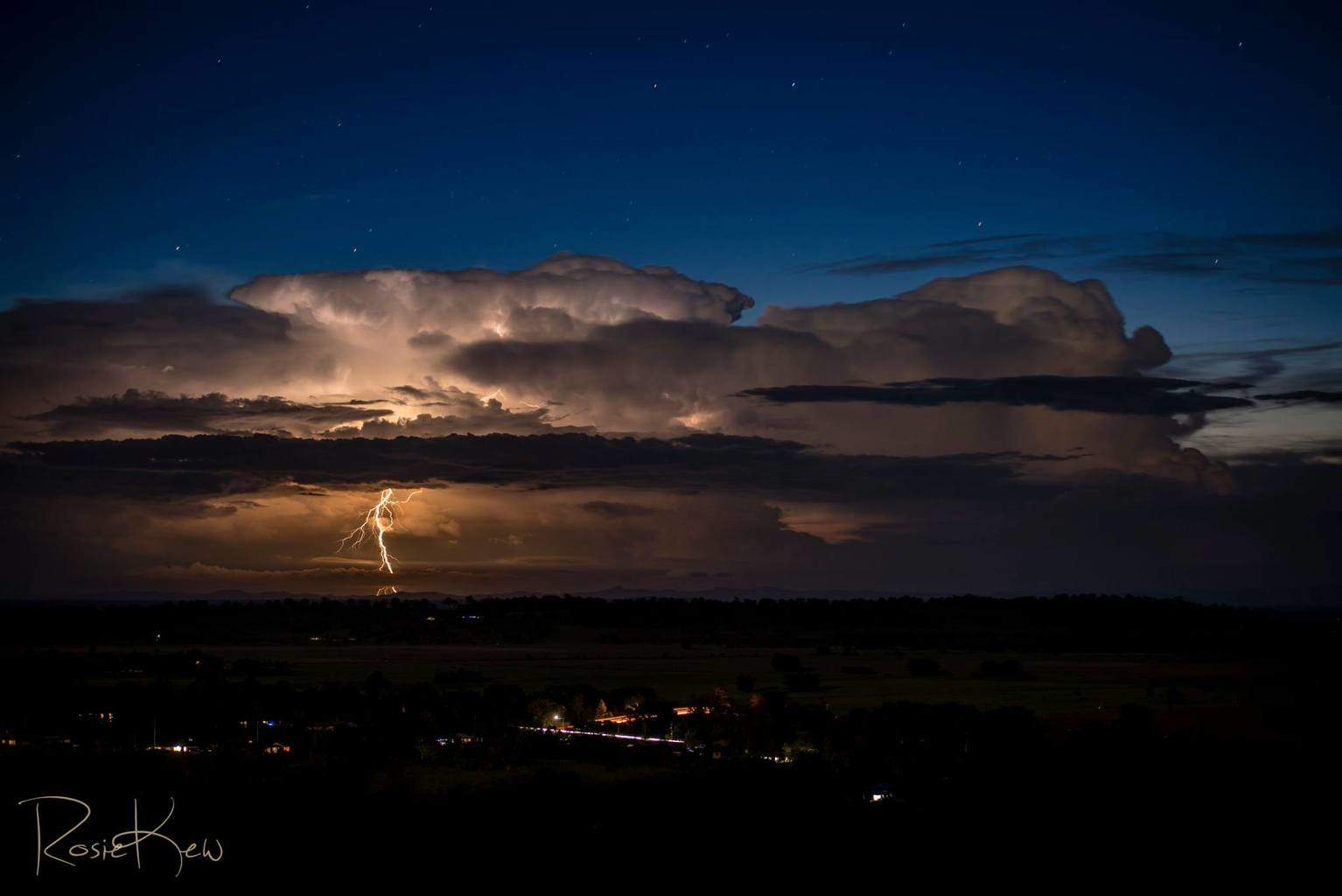 "Sunday evening 7th Dec 2014 - Michael Bath (Legend Aussie chaser and friend) and myself enjoyed this light show that was about 200km away from where we were near Lismore Northern NSW Australia. Taken at 75mm on my beautiful ""Big Bertha"" Nikkor 70-200mm lens. Not long till our storm season and I will be chasing November and December and am hanging for more of these..."