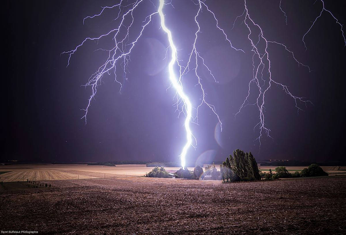 Intense lightning strike taken near Bromeilles (France) during our last storm chase.