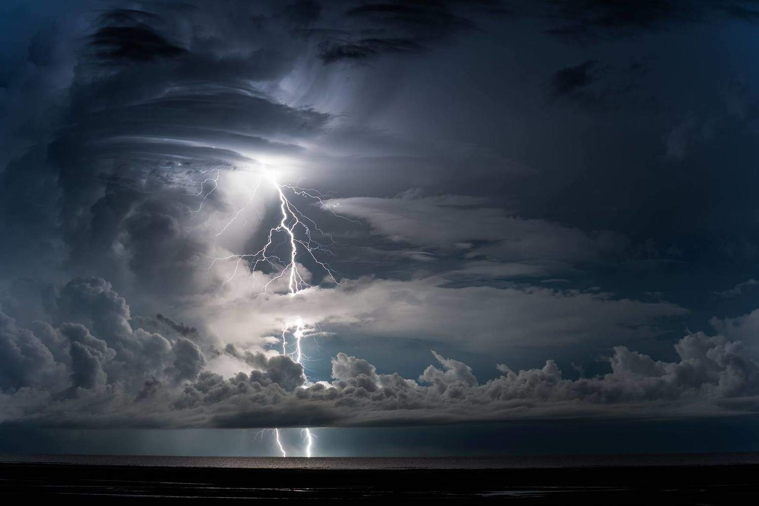Hurry up build up, we want lightning. This was taken at Lee Point NT Australia around 4am.