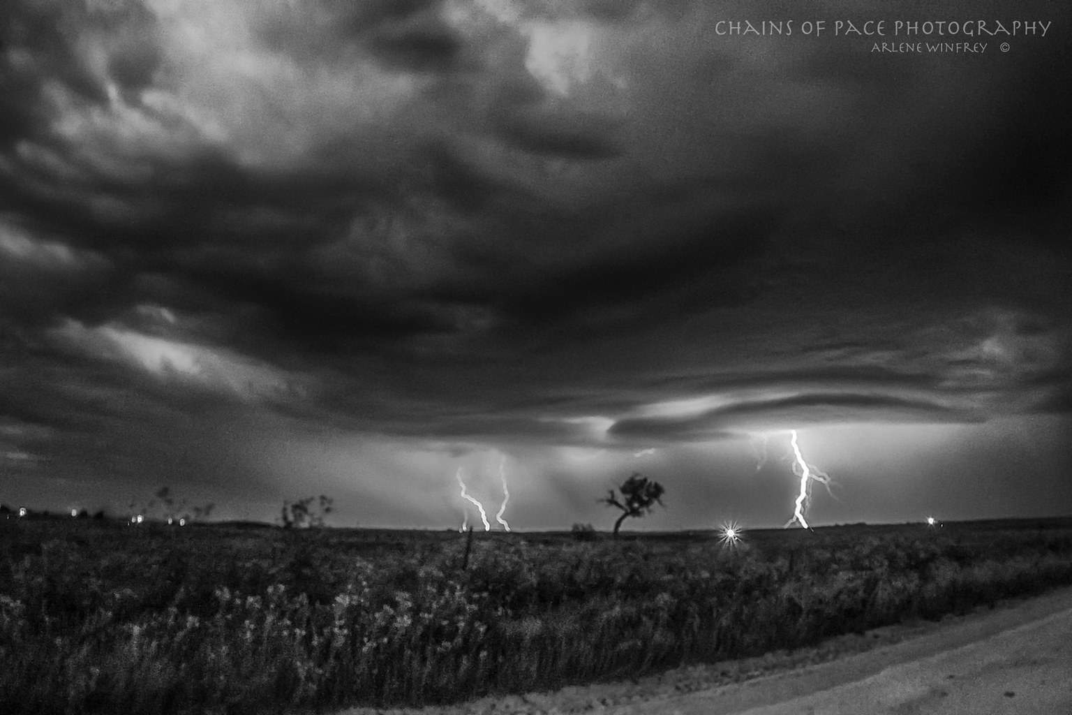 Storm over the prairie in Oklahoma 8-27-2015
