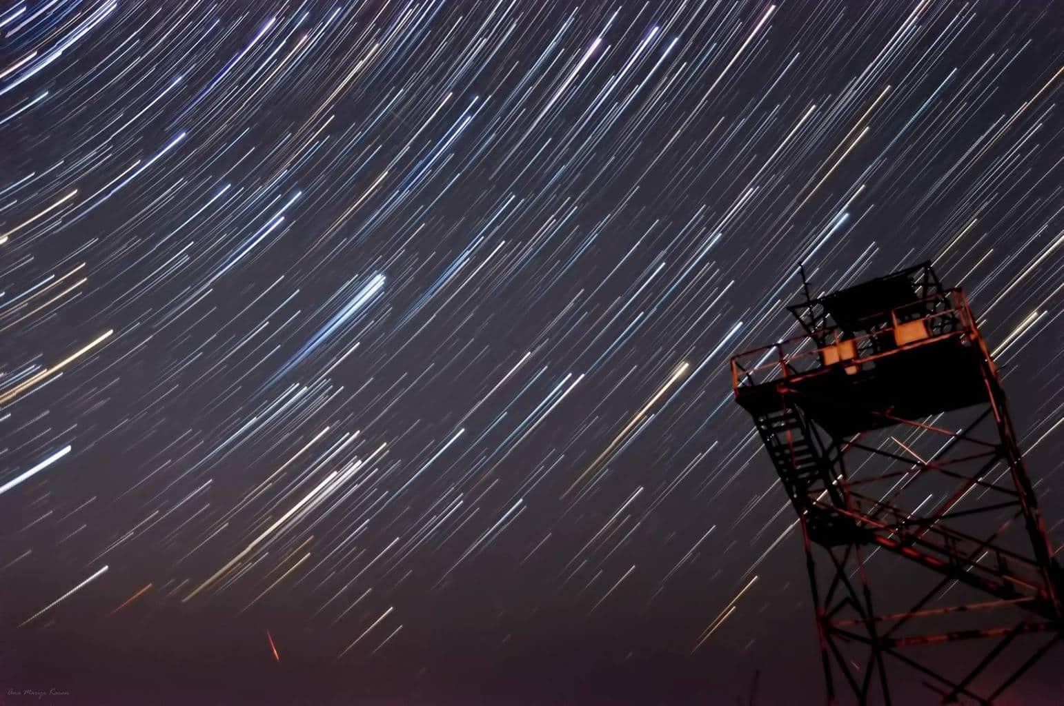 Star trails.  Rt Marlera, Croatia Composite of 104 shots, each of 30 seconds Nikon D90, Tamron 17-50mm