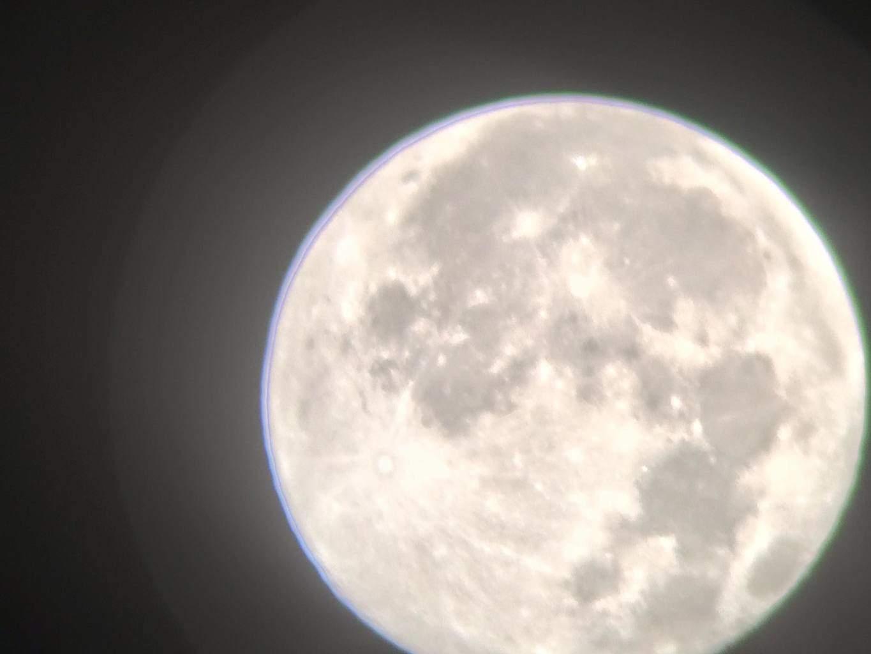 The moon through my son's telescope. Semmes, AL
