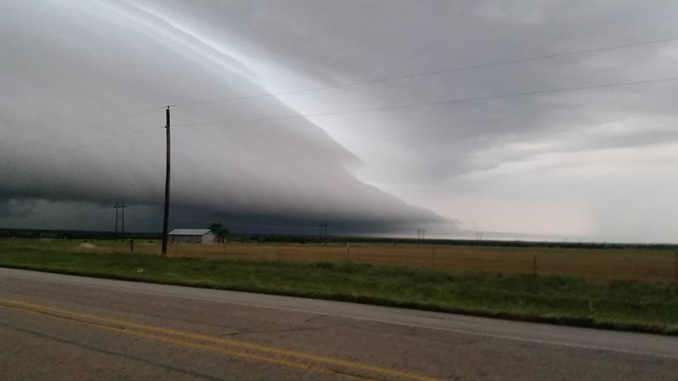 Most amazing shelf cloud I have taken picture of. Archer City, Tx this storm produce produced the octopus tornado in Denton county amazing structure. Almost like a dream