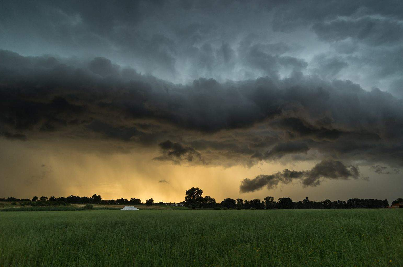 Thunderstorm with gustfront  The photo was taken in south bavaria on July 19th 2015