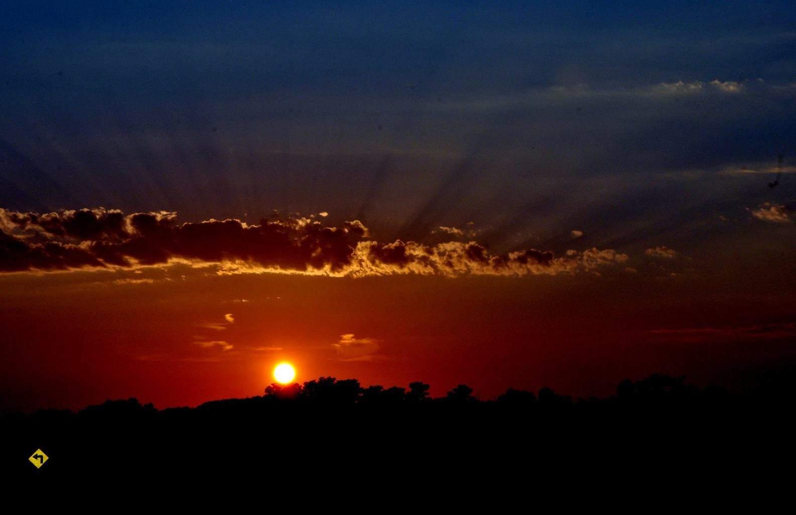 Sunset tonight. So beautiful when God paints.