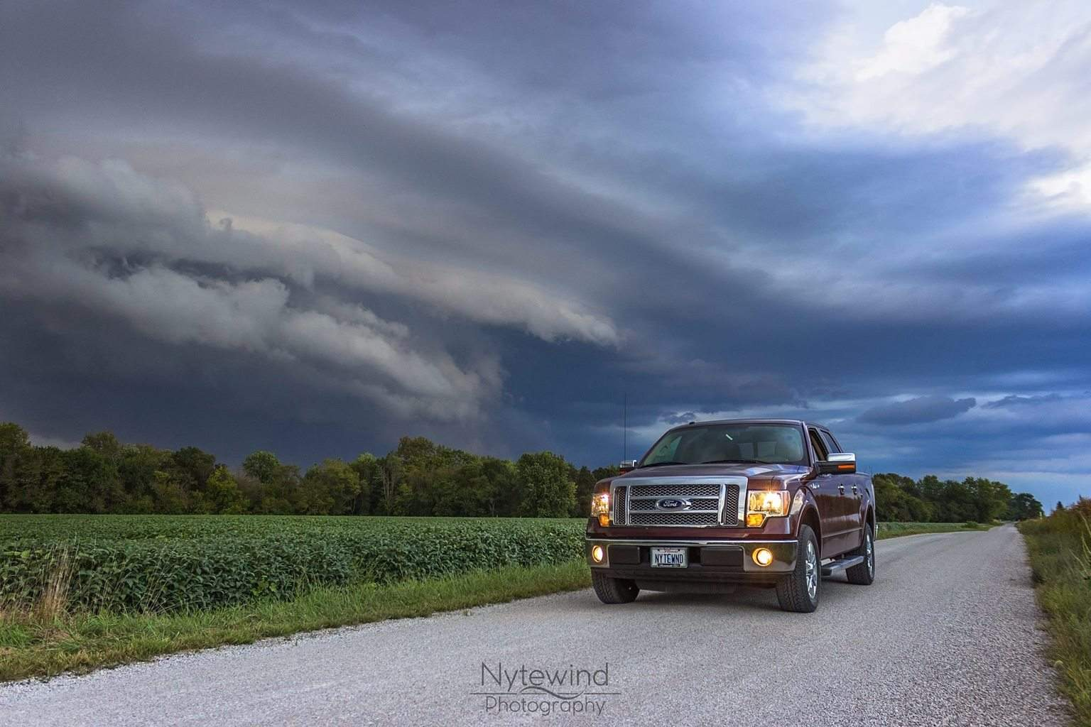 Because sometimes you just have to include your baby in the storm shot. West Central Illinois 9/10/2015