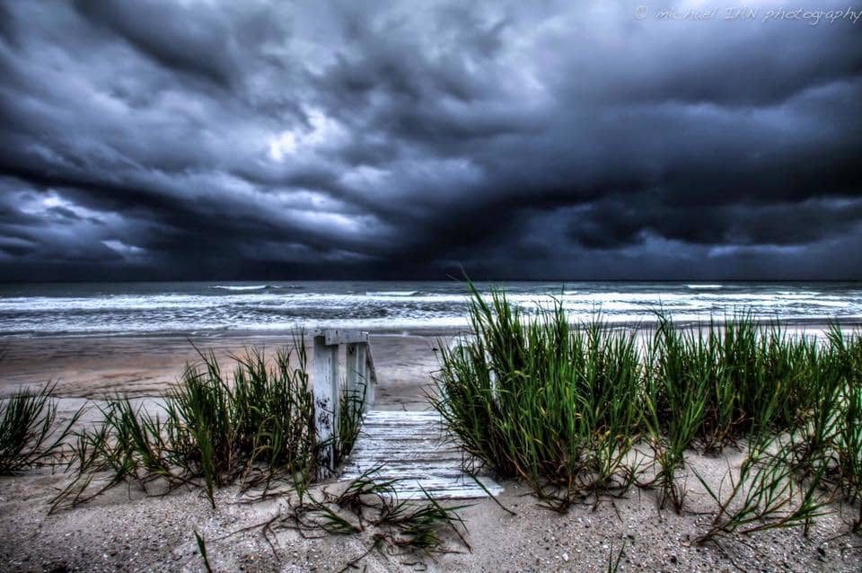 Morning storms on Floridas East Coast this morning.