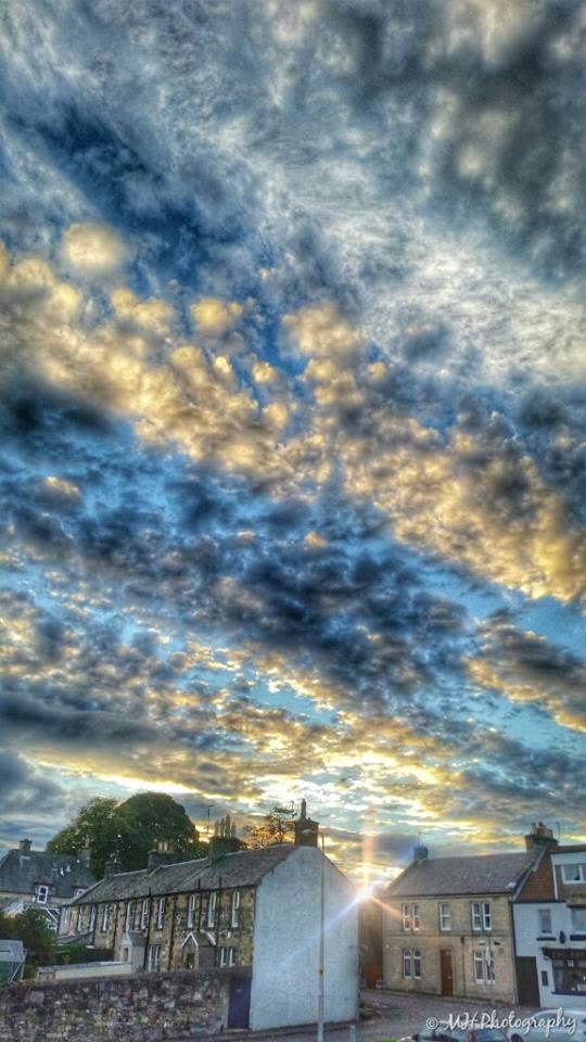 Fabulous marbled Sky over Fife, Scotland tonight.