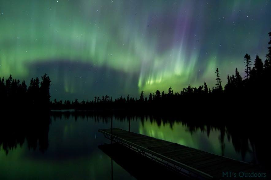 I finally hit Devilfish lake up north of Grand Marais MN. It has been on my bucket list to shoot the aurora there for over a year! No noise, and no light, other than from the stars and the northern lights, which can fill the sky this far north! Also no cellular service, so no charts, reports, alerts, facebook, nothing, just watching the sky and waiting it out! It looks like I picked the right night!