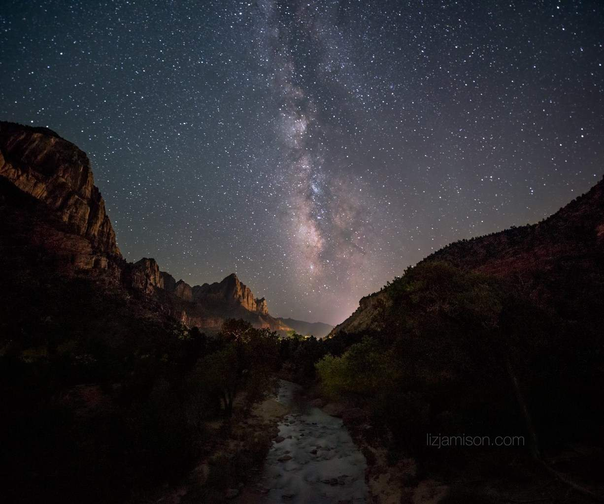 No current storms. But yay for Milky Way! haha Zion National Park in Utah is amazing. I was up there last week before all of the flooding. 15mm, 2.8f, ISO 3200, 30sec