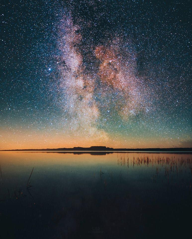 Infinite night over the Mors island ,Denmark.
