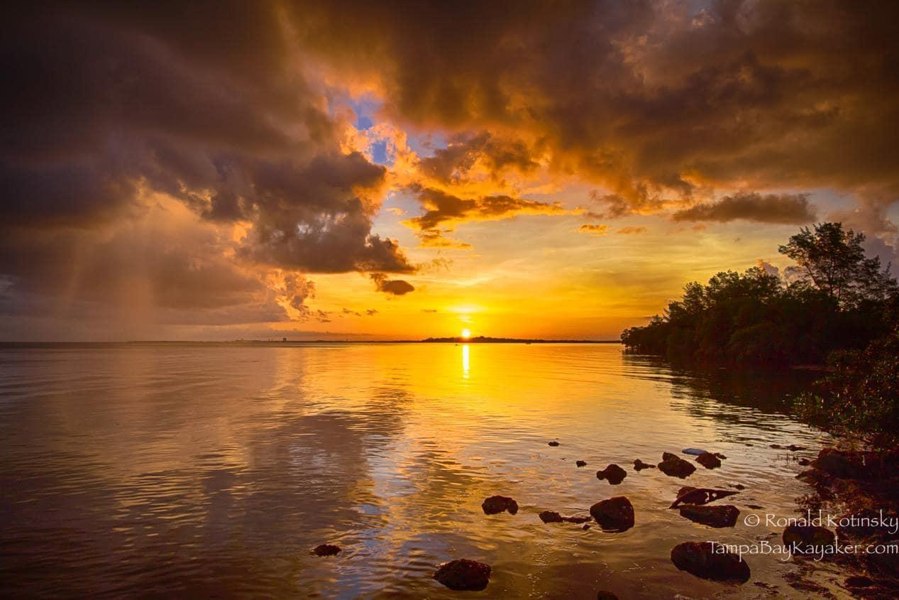 Sunrise and Thunderstorm - Skyway Bridge Flats - Tampa- Florida