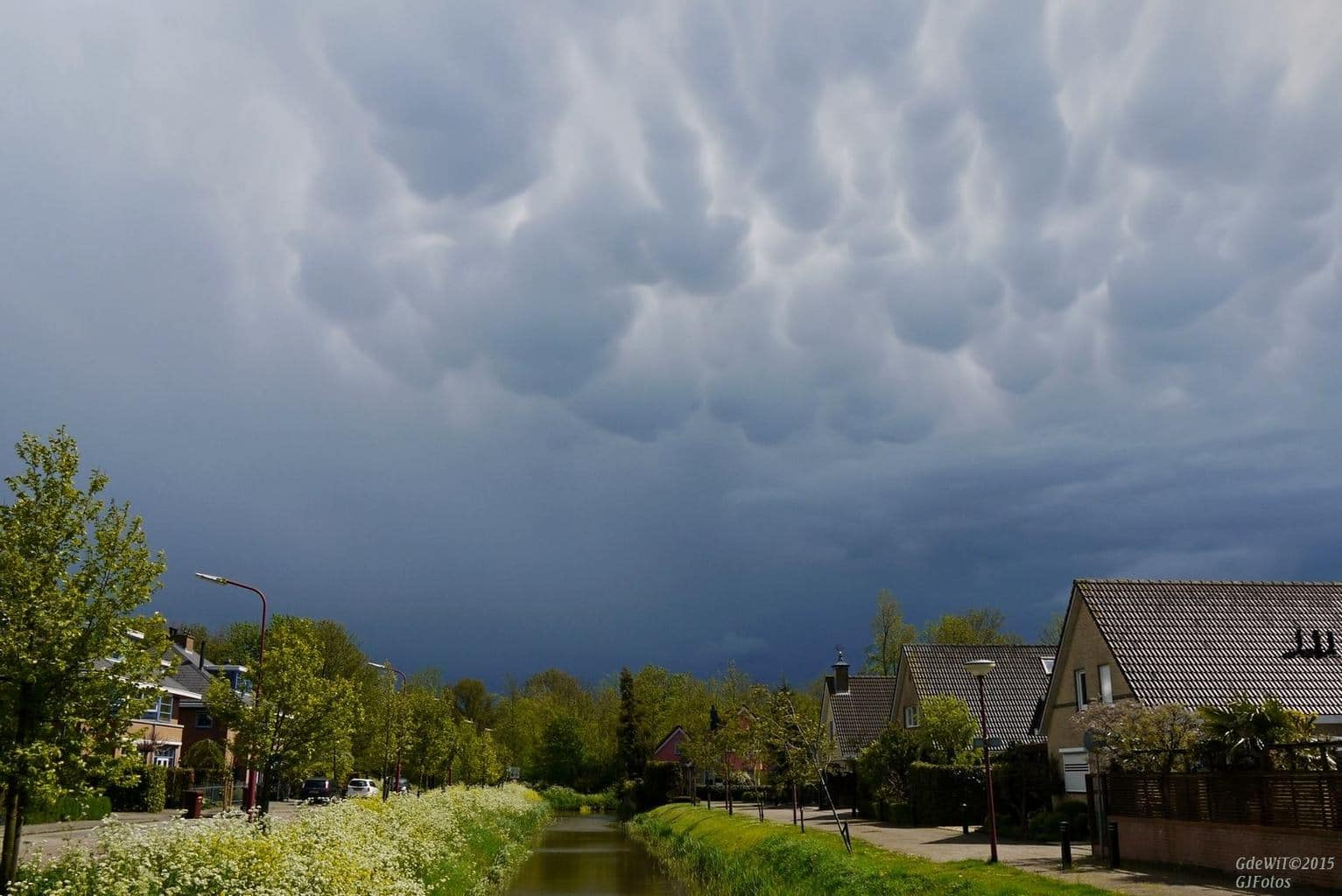 A couple of months ago , I love mammatus skies...
