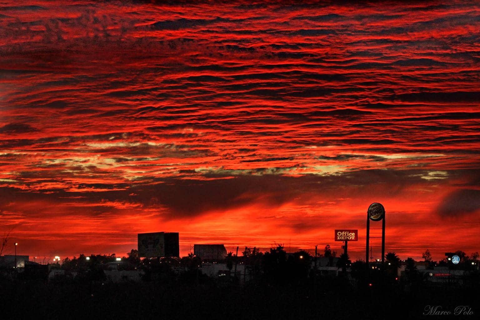 Red sky, Sinaloa. Mexico.