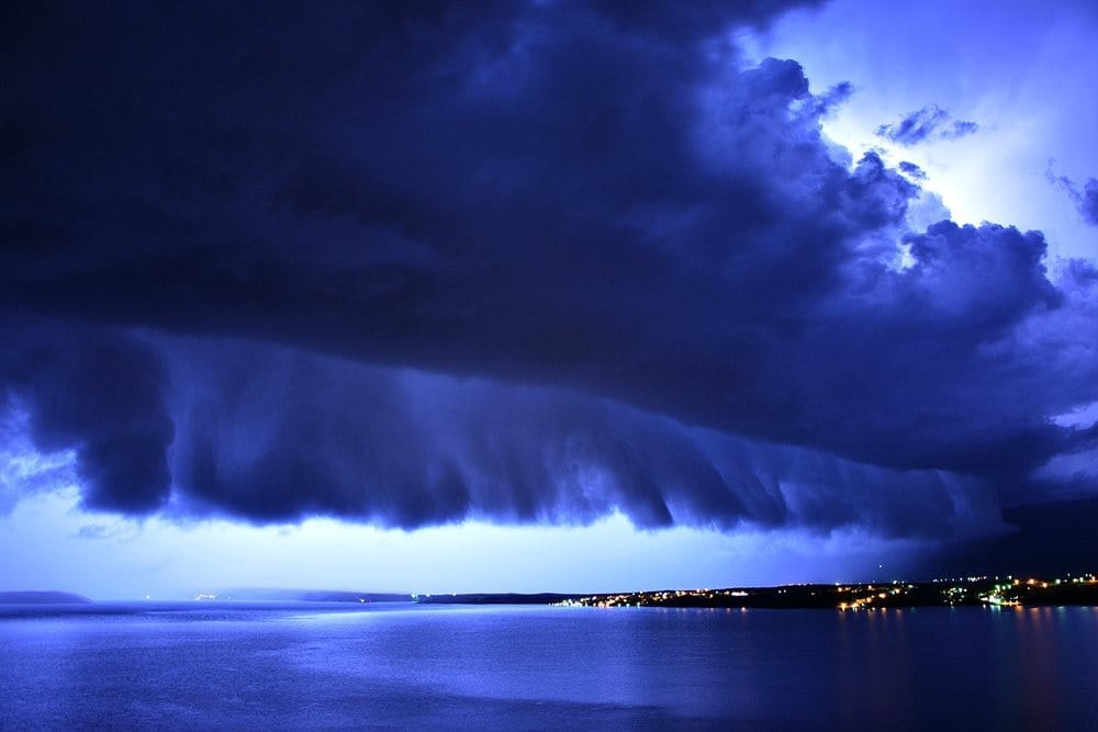 A cold front passing through Kvarner. 05/06.09.2015