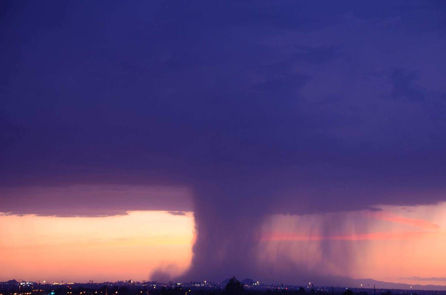 This downpour created a lot of damage at the Phoenix Zoo. From Mesa AZ.