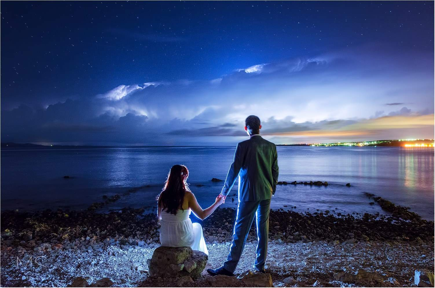 Last night (5.09.2015) we got lucky to have wedding photo session and approaching cold front. So we combine that two and this is a product Zadar / Croatia