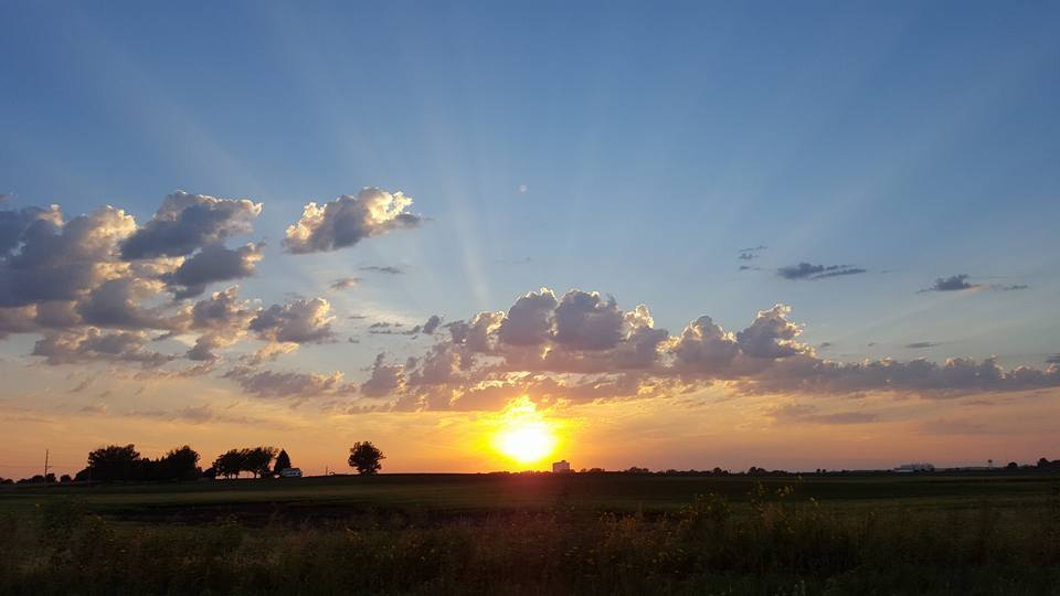 Sunset from Ames Iowa a couple days ago.
