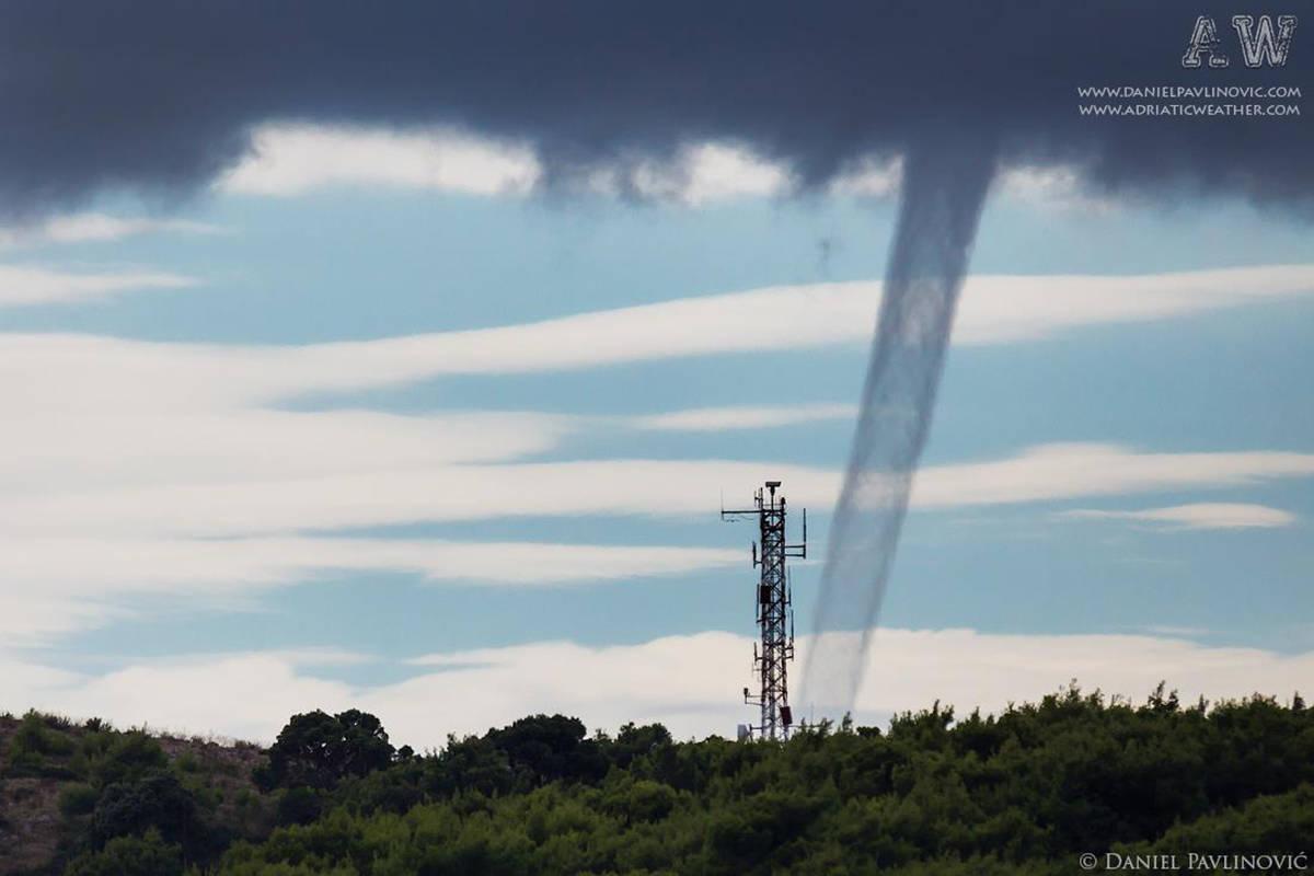 Yesterday's waterspout in Dubrovnik, Croatia.