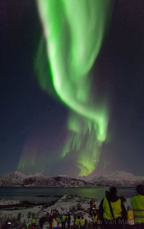 """""""Tornado of Light"""" - Picture taken during an excursion not far from Tromsø, Norway on february 19th 2014."""