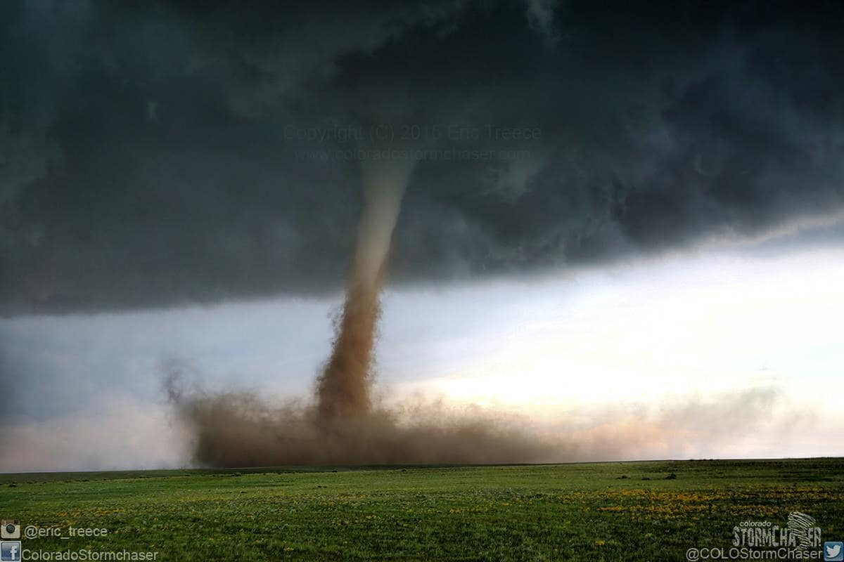 We all know which tornado this one is, so I will throw my shot of it in the hat! What a day!! Simla, CO June 4, 2015!