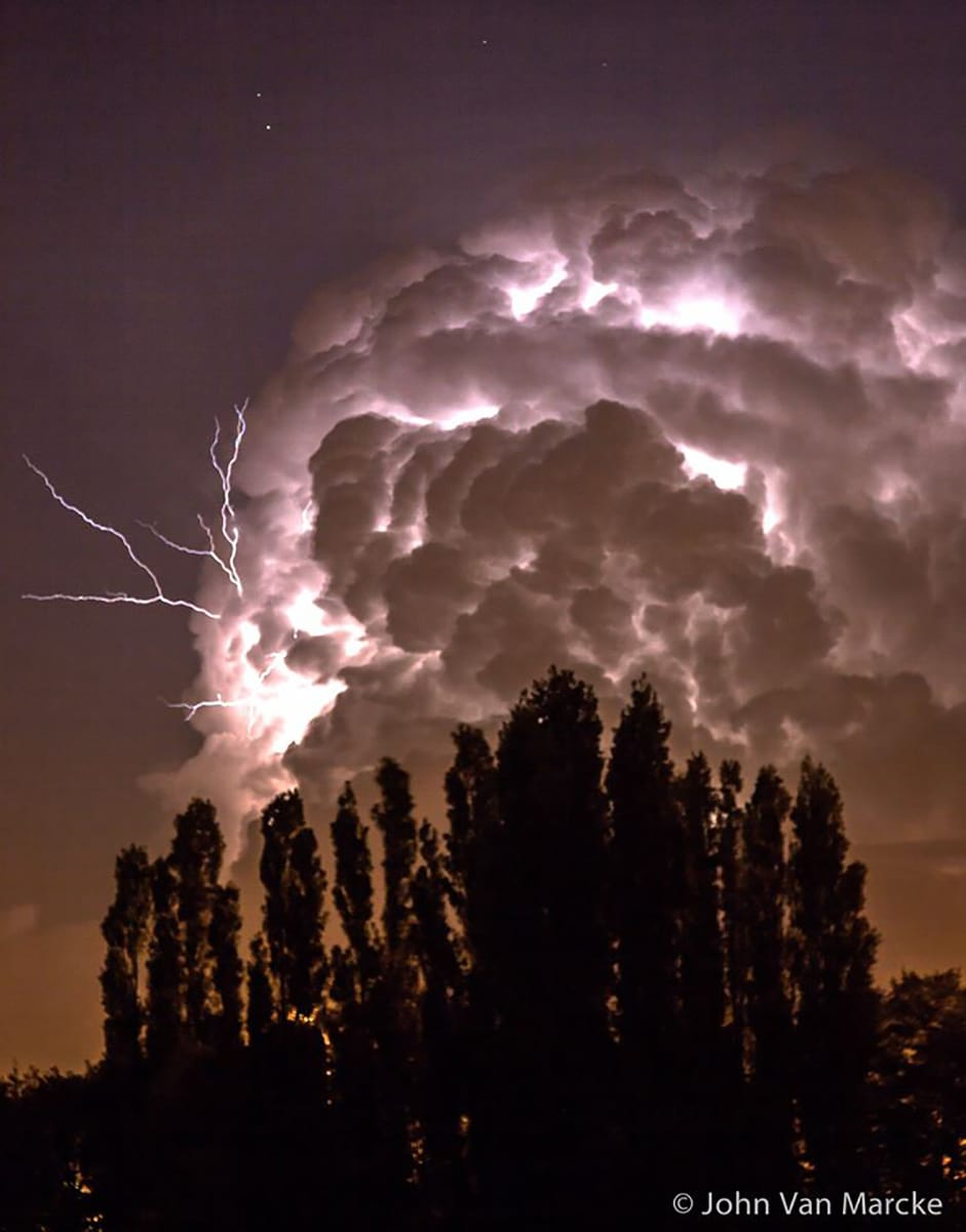 Almost the end of summer and thunderstorm season in Belgium ...