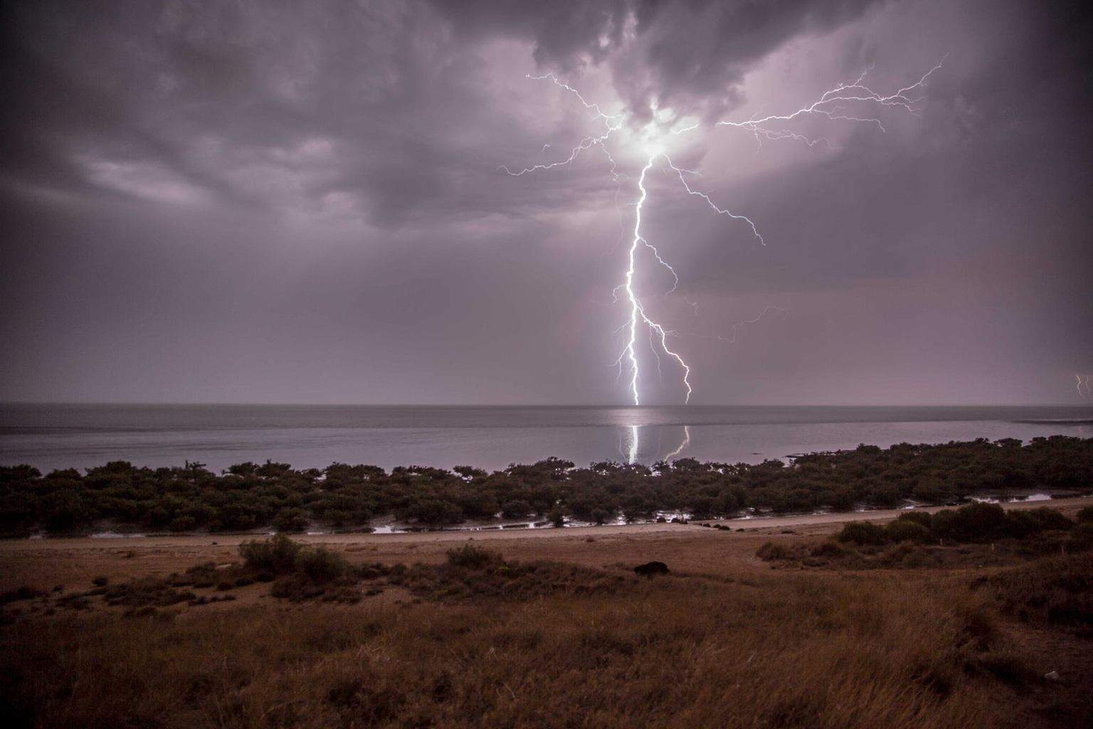 I am counting down the days until the next storm season kicks off in Karratha, Western Australia. This is a shot from earlier this year at a view point a few hundred meters from my house..