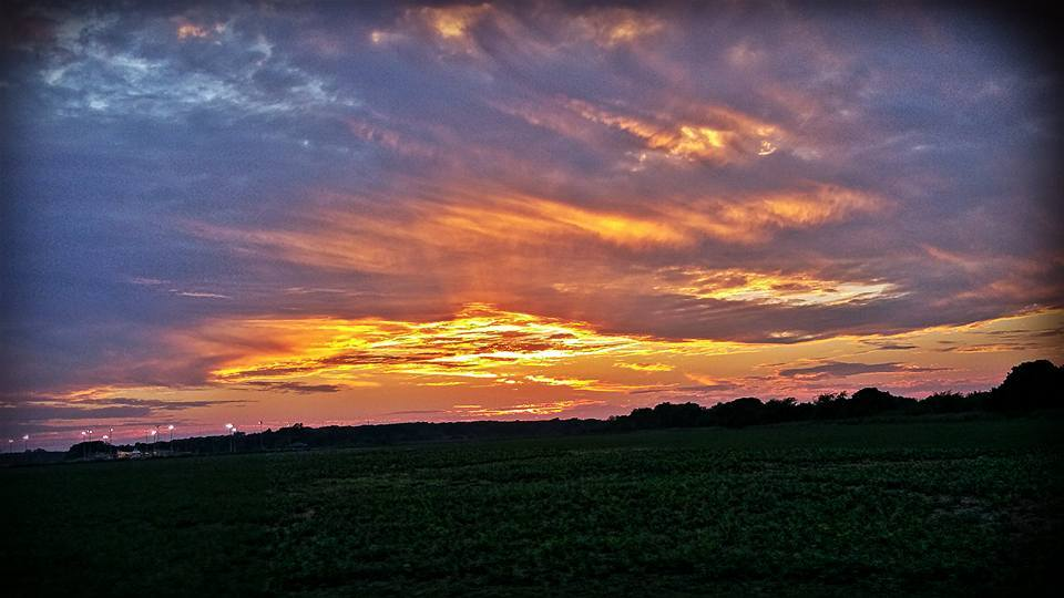 Not a storm unfortunately, but our Oklahoma sunsets are a site to behold