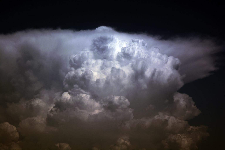 Distant storm near Šibenik,Croatia,25.7.2015.