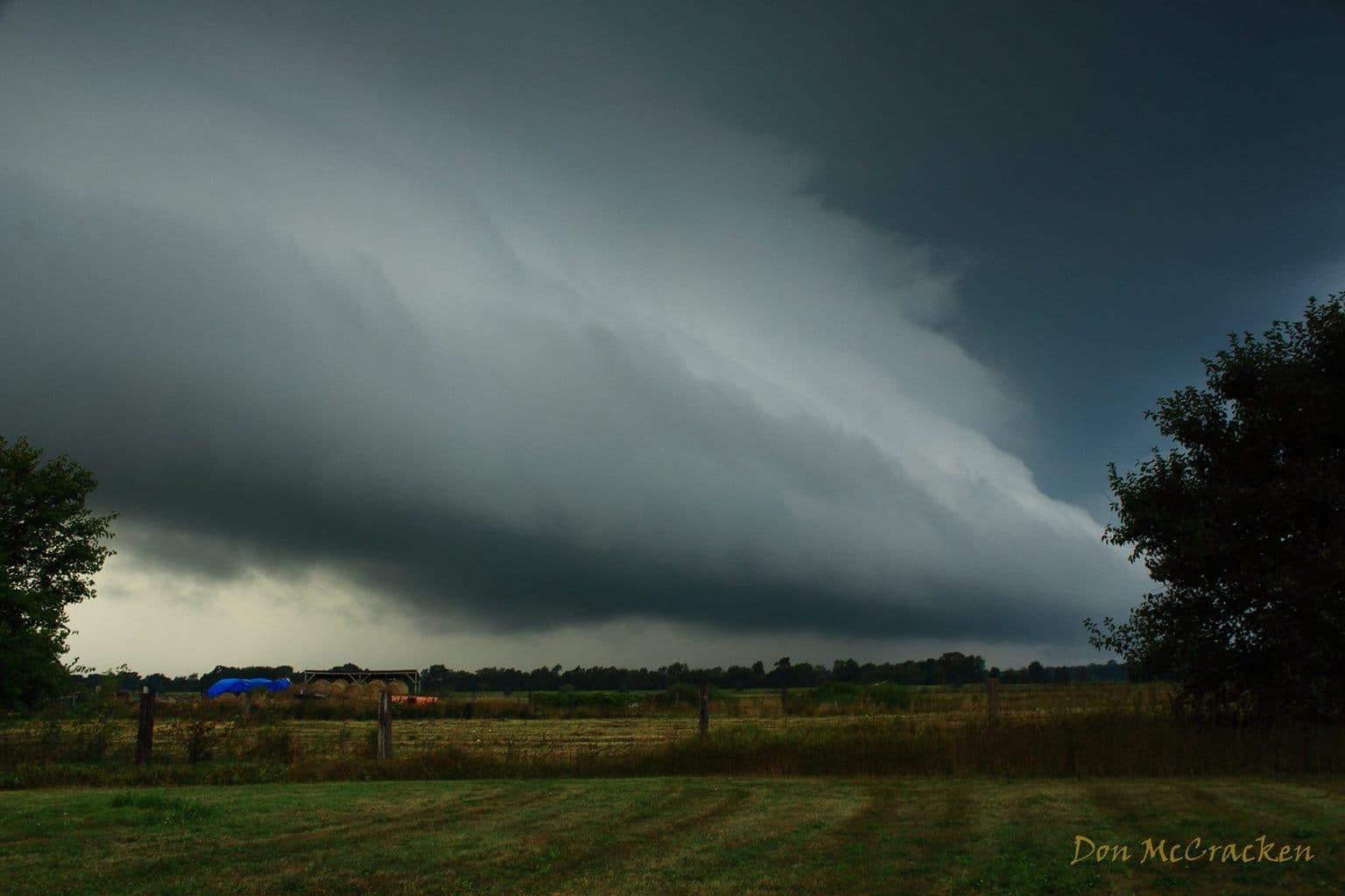 Storm just north of Napoleon, MI on 9/3/2015