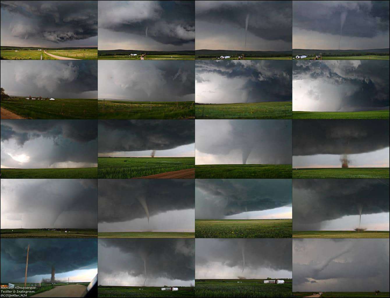 I finally got around to making a collage of the Simla tornadoes!