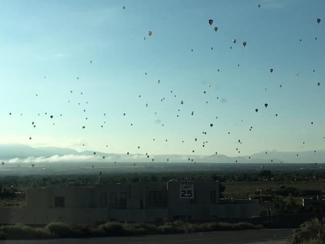 Beautiful morning for Balloon Fiesta in New Mexico