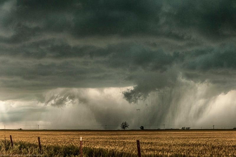 May 6, 2015 - One of the several tornadoes that occurred northwest of Chickasha, Oklahoma