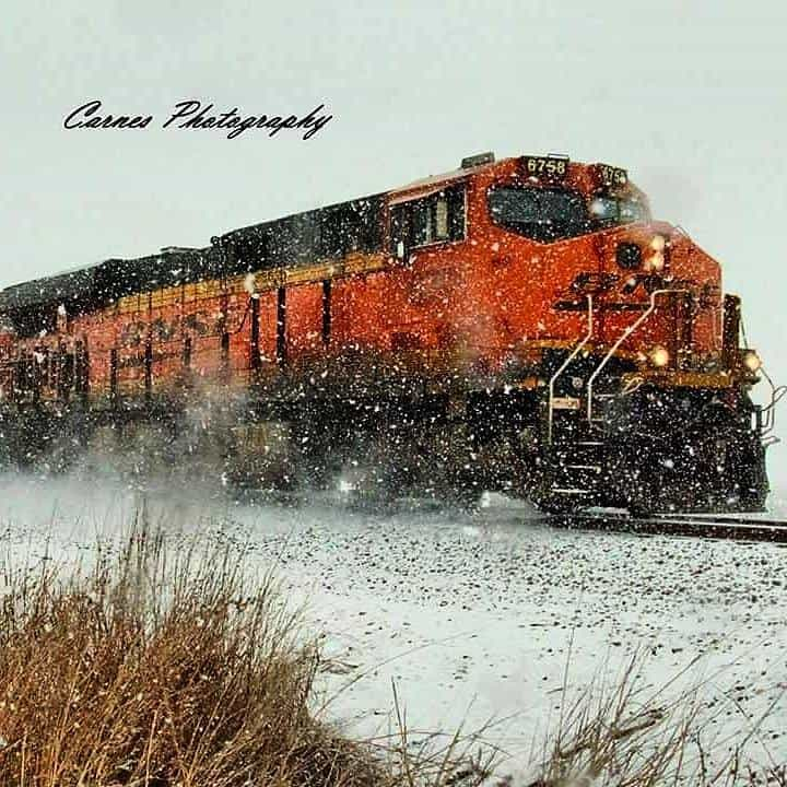 Hoping for some more snow shots like this soon. Taken in Paoli OK in February. Was out enjoying the snow and saw this train coming and fell in love immediately. I call it 'Snowy Train'......hope you enjoy