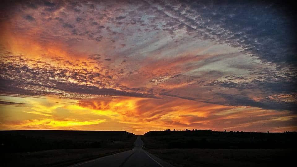 Had an incredible sunset tonight driving through Arkansas City, Ks