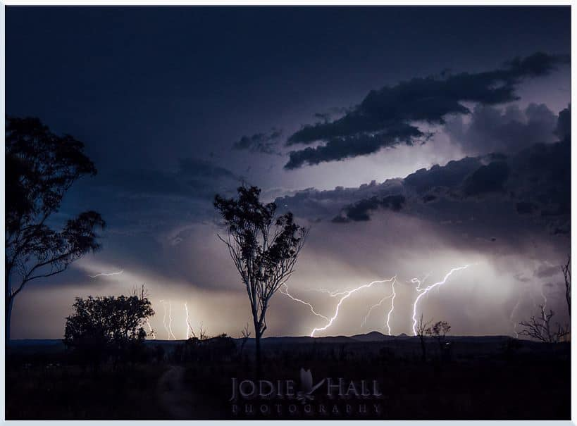 In Australia the storm season is really starting to ramp up, last night near Byrnestown, Queensland.