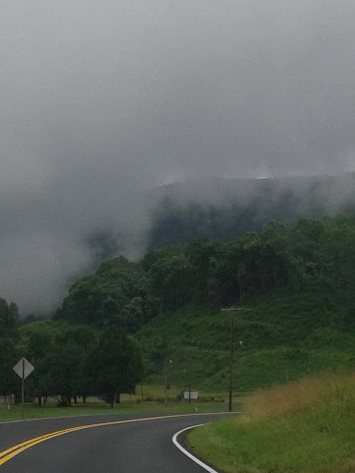 Rain clouds in the mountains. East Tennessee. July 3rd 2015