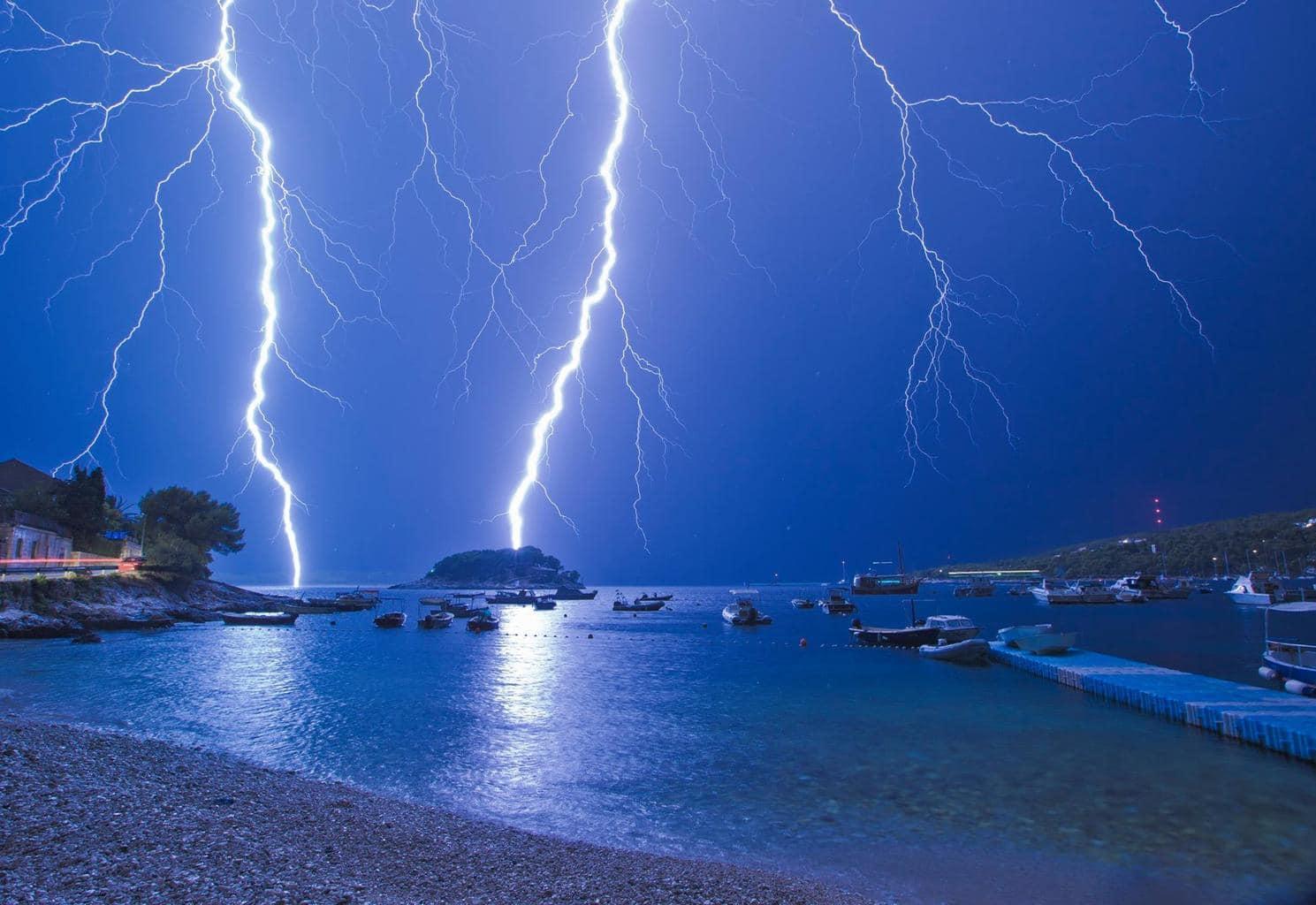 Not long ago.. scary times at the beach Hvar, Croatia