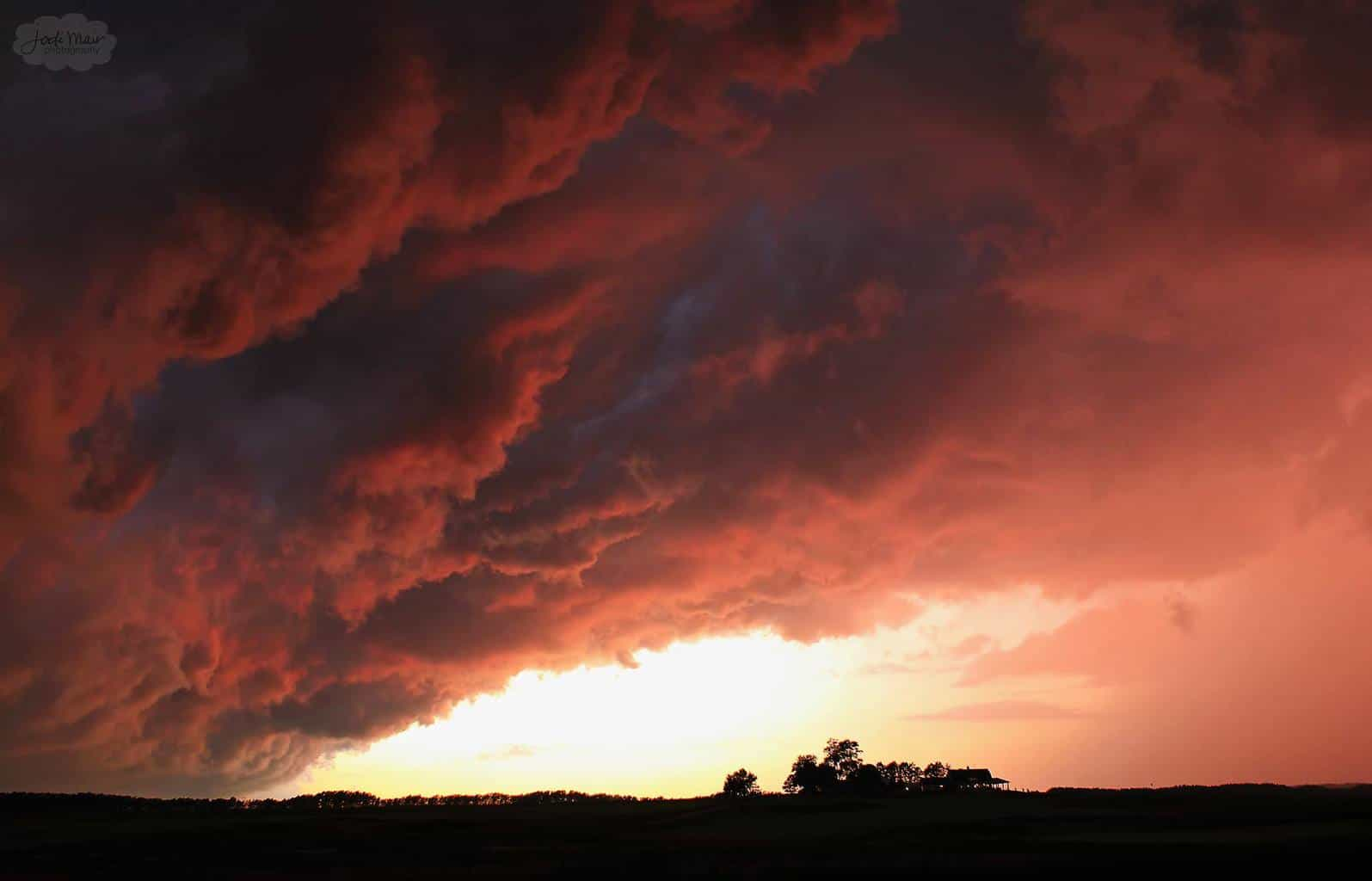A stormy sunset near Sugar Grove, Illinois on July 26, 2013. One of the best I have seen around here in a long, long time.